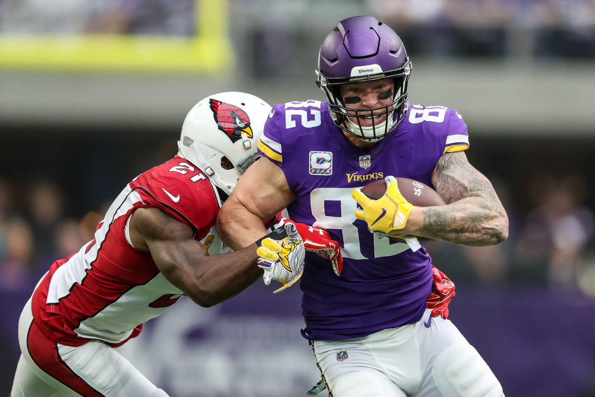 the best attitude bf1ee 5fec4 Is Kyle Rudolph a reliable fantasy starter? - Daily Norseman