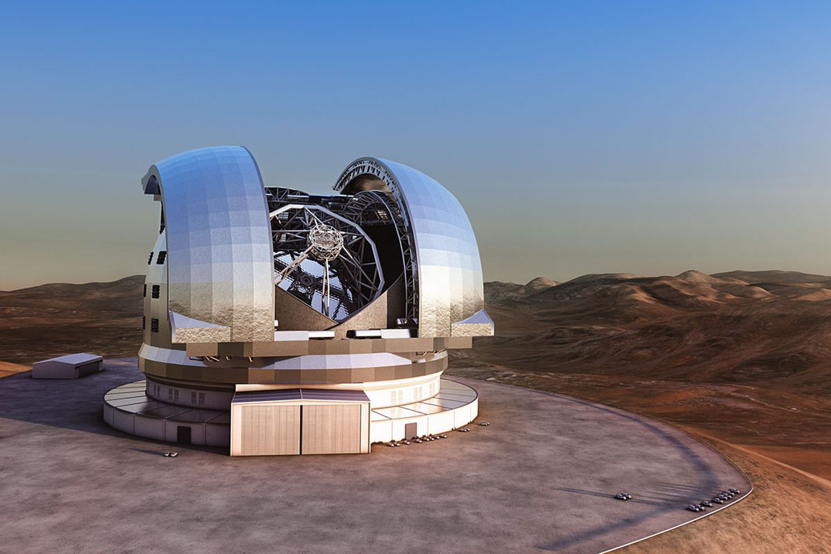 A rendering of the planned telescope.