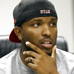 Former University of Utah football quarterback Brian Johnson is the youngest offensive coordinator in the nation Friday, July 27, 2012, in Salt Lake City, Utah.
