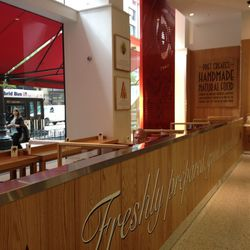 The cafe area of the Pret A Manger