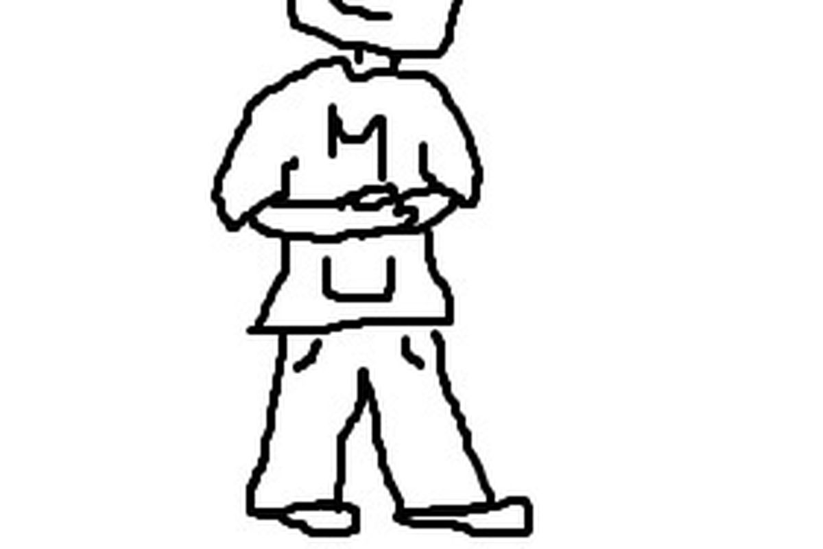 Non-copyright infringing image of new Monmouth head coach, Brian Fisher, rubbing his stomach after eating too many oysters in an oyster eating contest.