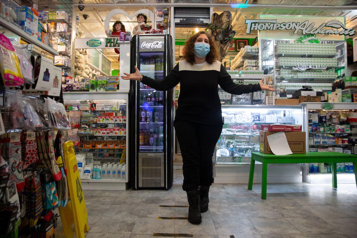 Jolie Alony in her SoHo pharmacy, Feb. 9, 2021.
