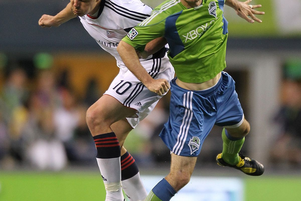 Brad Evans is a ball winner, distributor, coach on the field, and essentially a new player who returns to the Sounders.