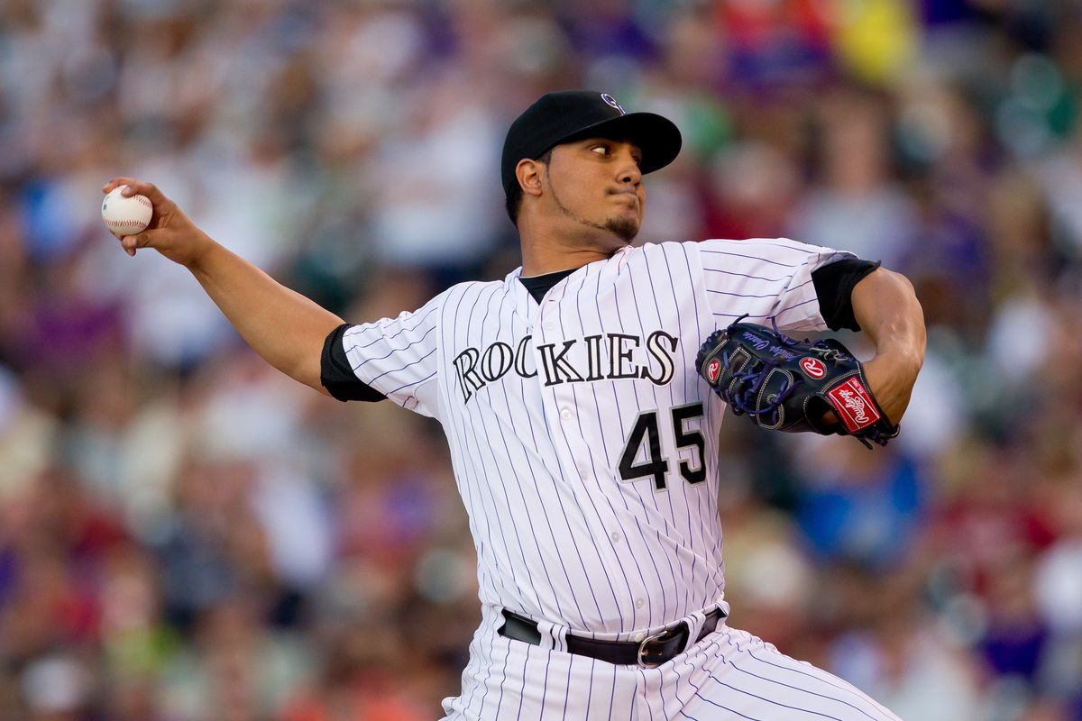 Jhoulys Chacin looks for his fourth win of the season tonight against Washington.