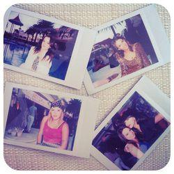 Polaroids at the Surrender poolside party [Photo via Kiara Schwartz]