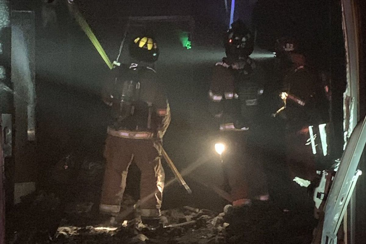 Firefighters early Sunday morning fought a large fire at a meetinghouse of The Church of Jesus Christ of Latter-day Saints in Cottonwood Heights.