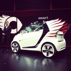 Jeremy Scott and his futuristic hot rod-inspired Smart car
