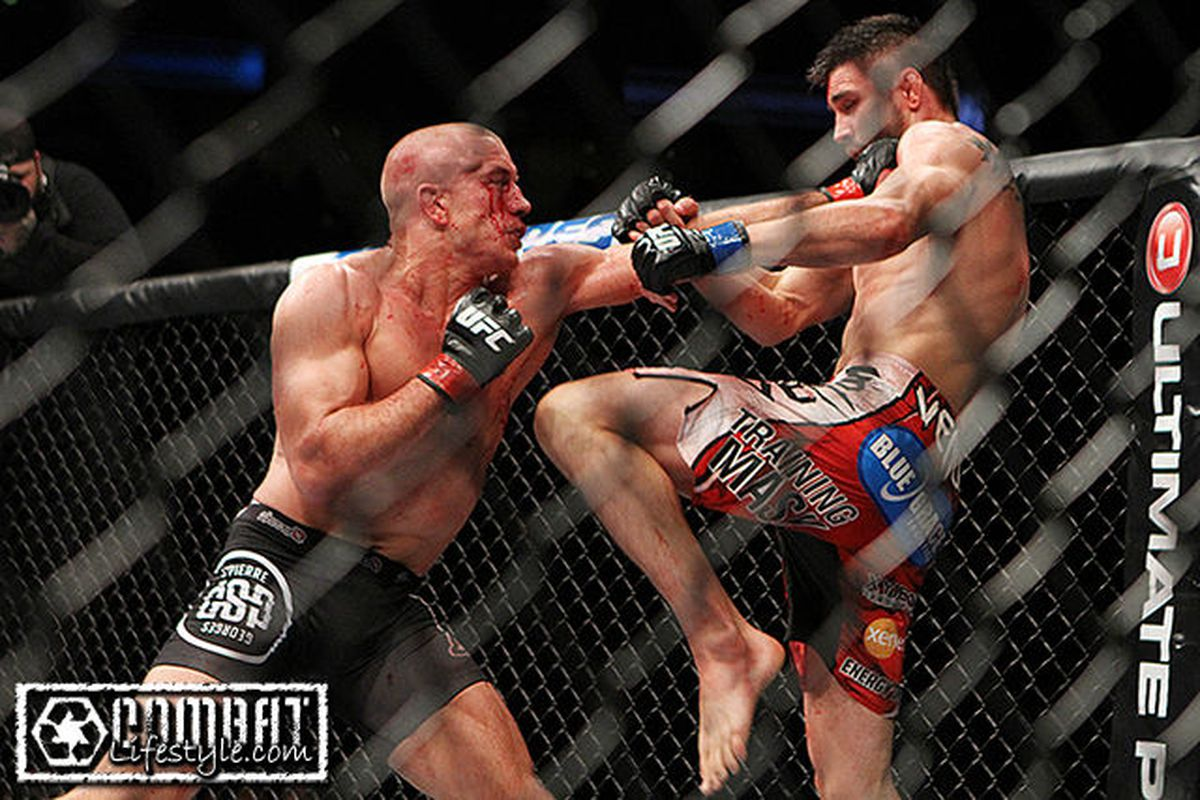 Georges St Pierre Vs Carlos Condit Full Fight Video Highlights From Ufc 154 Mmamania Com