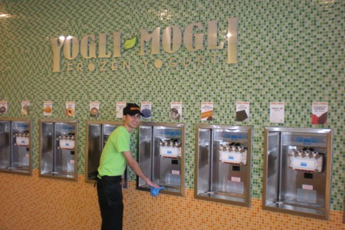 Yogli Mogli yogurt wall