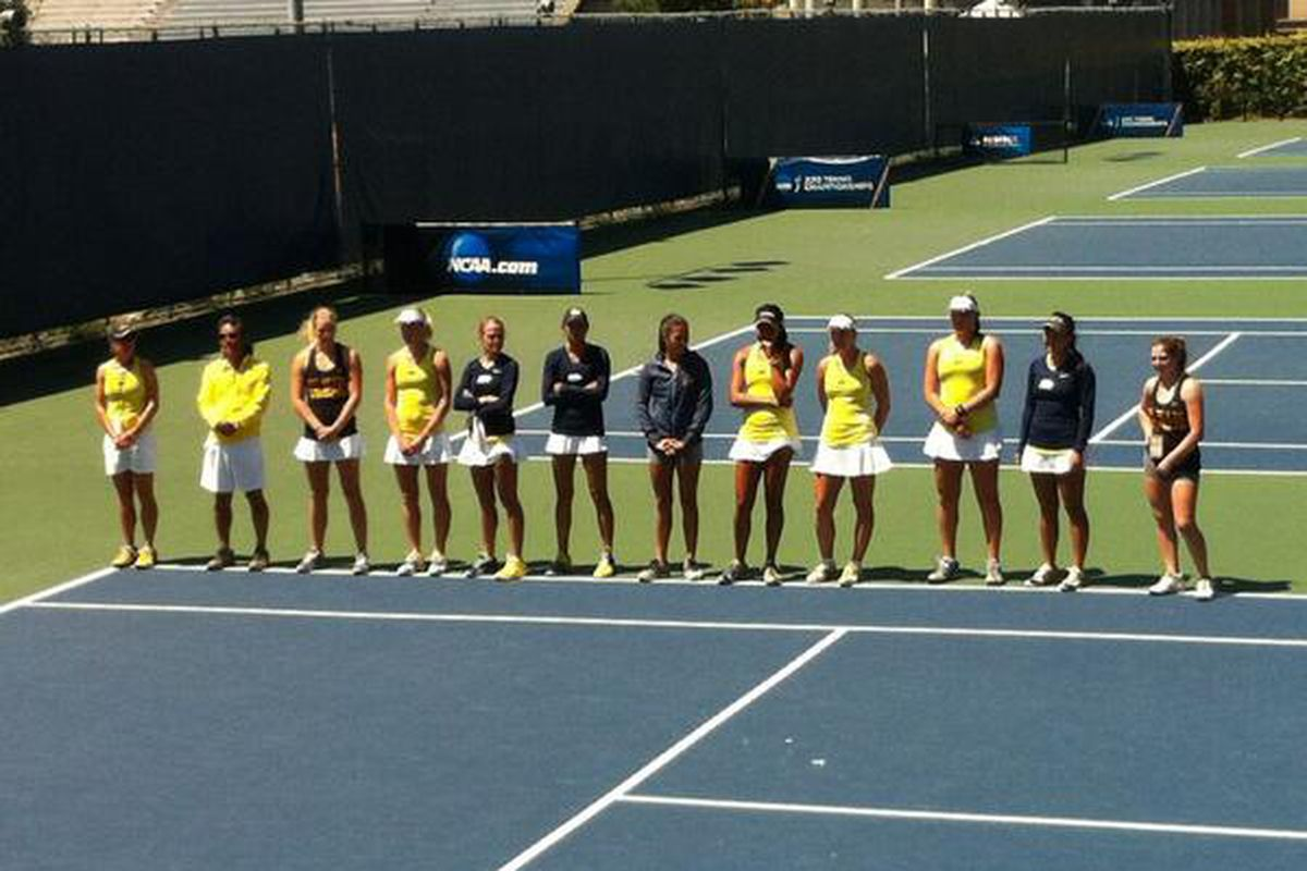 The Cal Women's Tennis team from the 2013 NCAA's