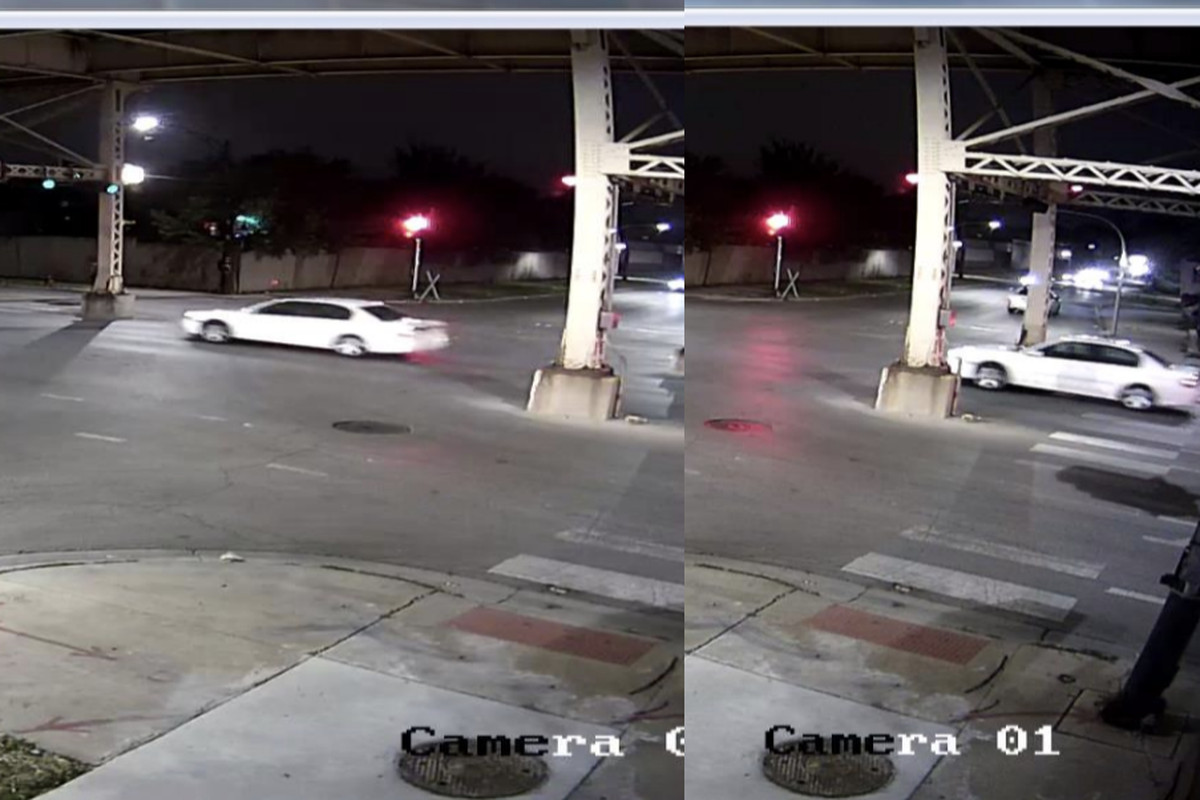 Surveillance images of a car wanted in an Aug. 15, 2020, hit-and-run in West Garfield Park.