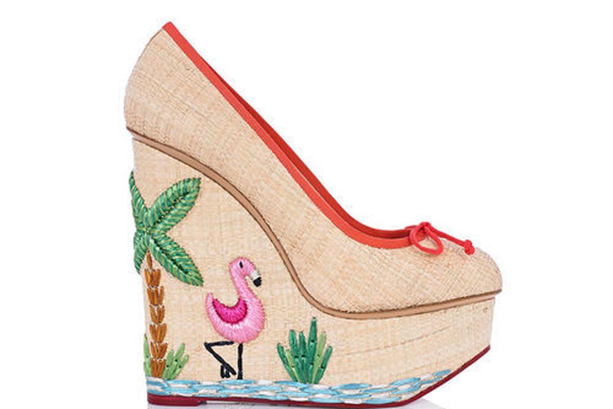 "Charlotte Olympia shoe. Photo via <a href=""http://miami.racked.com/archives/2014/04/21/charlotte-olympias-flamingoinspired-kicks-are-so-miami.php"">Racked Miami</a>."