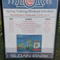 Today's workout schedule