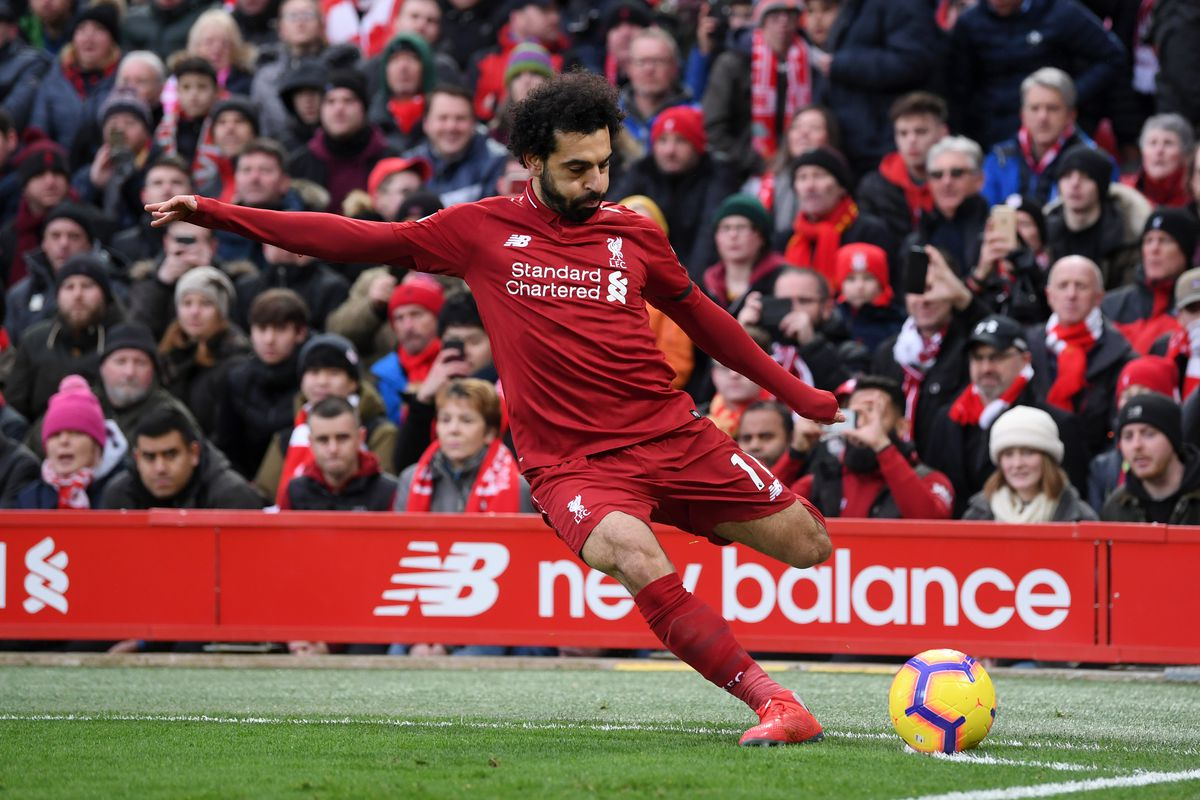Image result for Mohamed Salah scores stunning goal as Liverpool go top of Premier League