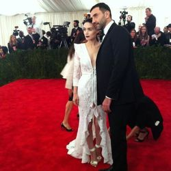 """First to arrive: Riccardo Tisci and Rooney Mara via <a href=""""https://twitter.com/amyodell/status/331534581629087744/photo/1"""">@AmyOdell</a>"""
