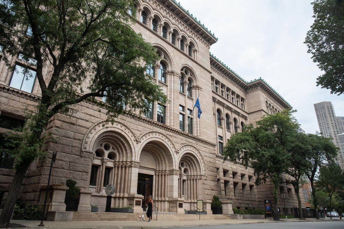 The Newberry Library, 60 W. Walton St., stands where the Mahlon Ogden Mansion used to be.