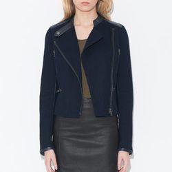 "<b>Monika Chiang</b> Knit Leather Panel Moto Jacket, <a href=""http://www.monikachiang.com/shop/designer-clothing/knit-leather-panel-moto-jacket.html"">$725</a>"