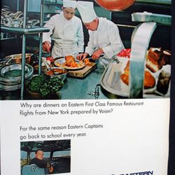 """A 60s <a href=""""http://cgi.ebay.com/1965-Pilot-Jack-H-Young-EASTERN-AIRLINES-Voisin-food-Ad-/150448915266?pt=LH_DefaultDomain_0&hash=item2307744342#ht_515wt_876"""" rel=""""nofollow"""">ad</a> for Voisin food on Eastern Airways <br />"""