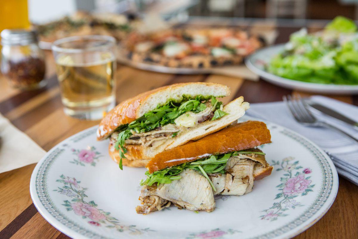 The porchetta sandwich at 40 North