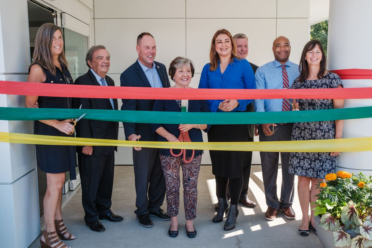 The ribbon cutting ceremony of the new Smith Village Rehab Center in Morgan Park, Wednesday morning, Sept. 29, 2021. Mark Capapas/Sun-Times