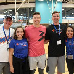 Jimmer Fredette poses for a picture during his Jimmerosity Jam 3on3 Tournament to Stop Bullying in Provo earlier this summer.