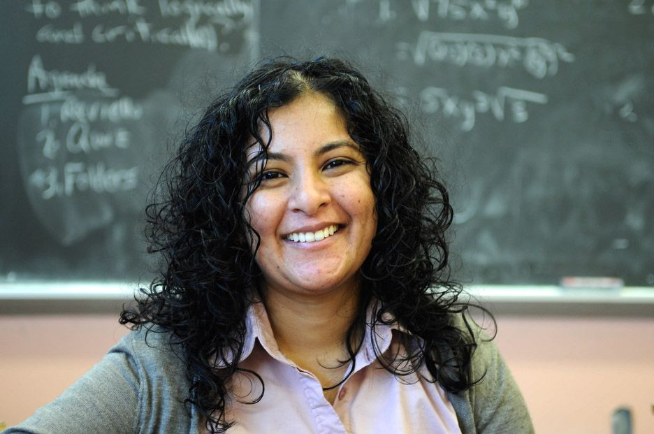 Michelle Persaud of Murry Bergtraum High School of Business Careers is one of seven math and science teachers to win an annual award for their work.