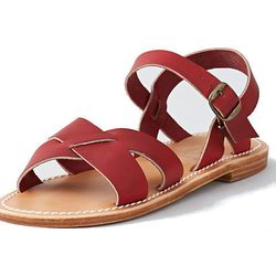 """<b>La Botte Gardiane</b> Pac Leather Sandal, <a href=""""http://www.stevenalan.com/S14_NA_S14_PAC.html?dwvar_S14__NA__S14__PAC_color=ROUGE#cgid=womens-shoes-and-accessories-shoes&frmt=ajax&view=all&start=0&hitcount=60"""">$150</a> at Steven Alan"""