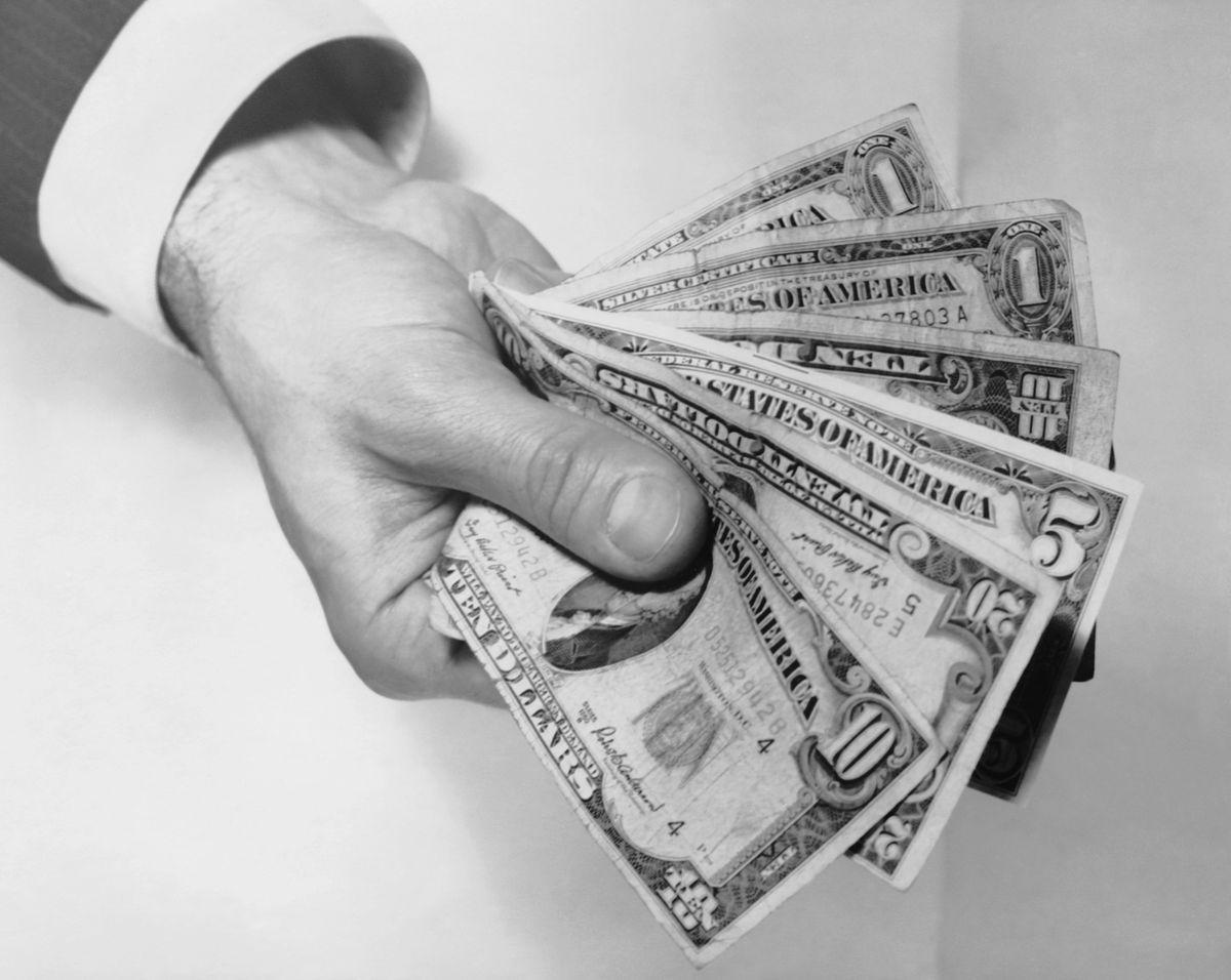 money hand bills