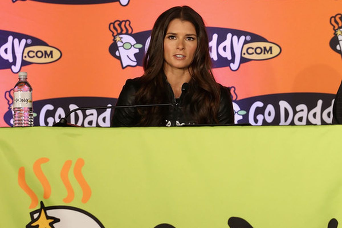 SCOTTSDALE, AZ - AUGUST 25:  Danica Patrick speaks about her full transition to NASCAR at a press conference at the GoDaddy.com Headquarters on August 25, 2011 in Scottsdale, Arizona.  (Photo by Christian Petersen/Getty Images)
