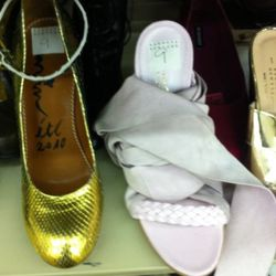 On the right - another Gianvito Rossi for Altuzarra style spotted on the racks