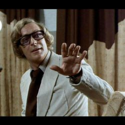 """Michael Caine seems to be having a great time in the comedy-thriller """"Pulp"""" (Arrow)."""