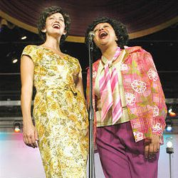 """Erica Hansen, left, and Toni Lynn Byrd star in Grand Theatre's reprise of """"Always . . . Patsy Cline."""""""