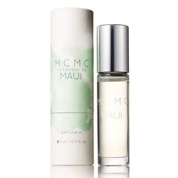 """<b>MCMC</b> Maui Perfume Oil at <b><a href=""""http://storeore.com/"""">Ore</a></b>, <a href=""""http://shop.mcmcfragrances.com/collections/perfume-oils/products/maui-9ml-perfume-oil"""">$45</a><br>Ingredients: Ginger, star anise, frangipani, tuberose, and green bamb"""