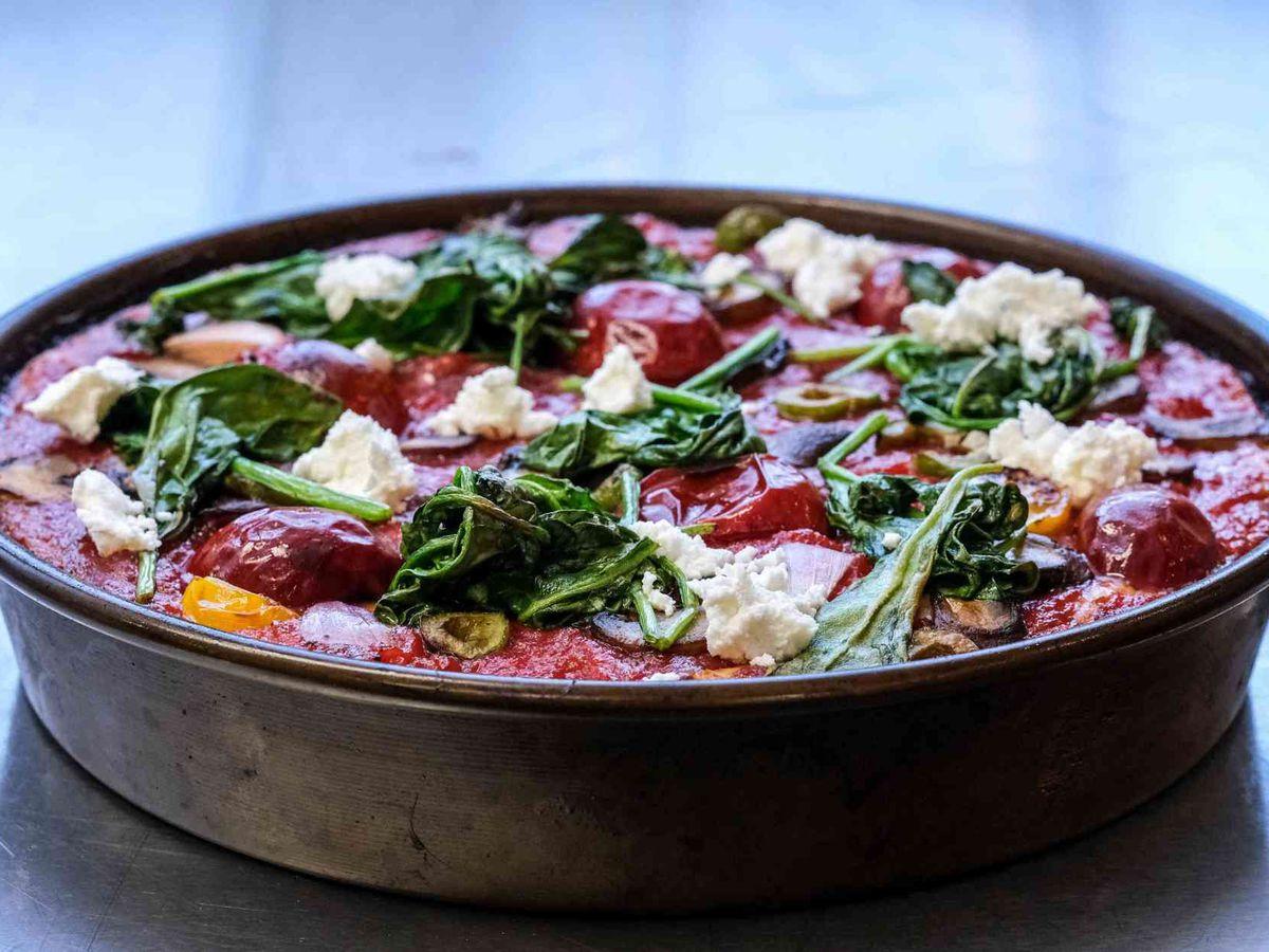 A pan pizza.