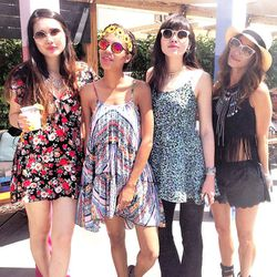 """Next up was the <b>Marc by Marc Jacobs</b> eyewear pop-up at the Ace Hotel & Swim Club. From left to right: Dylana Suarez of <a href=""""http://colormenana.blogspot.com/""""target=""""_blank"""">Color Me Nana</a>, Grasie Mercedes of <a href=""""http://www.grasiemercedes"""