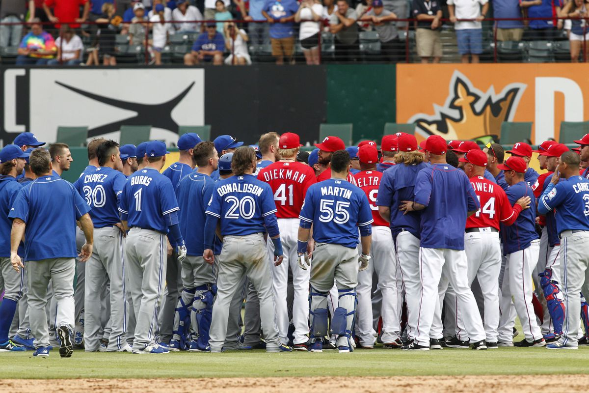 The Blue Jays and Rangers brawled, now the Rangers come to town.