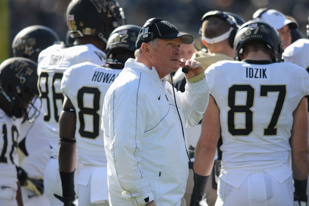 Jim Grobe on the sidelines during his final game as Wake Forest head coach