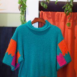 "Tsumori Chisato, <a href=""http://www.honeyintherough.com/Tsumori-Chisato-Color-Block-Sweater.html/?"">$435</a>"
