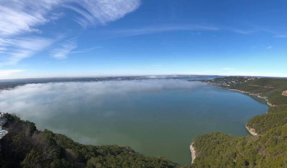 Lake Travis from the Oasis Texas Brewing Company