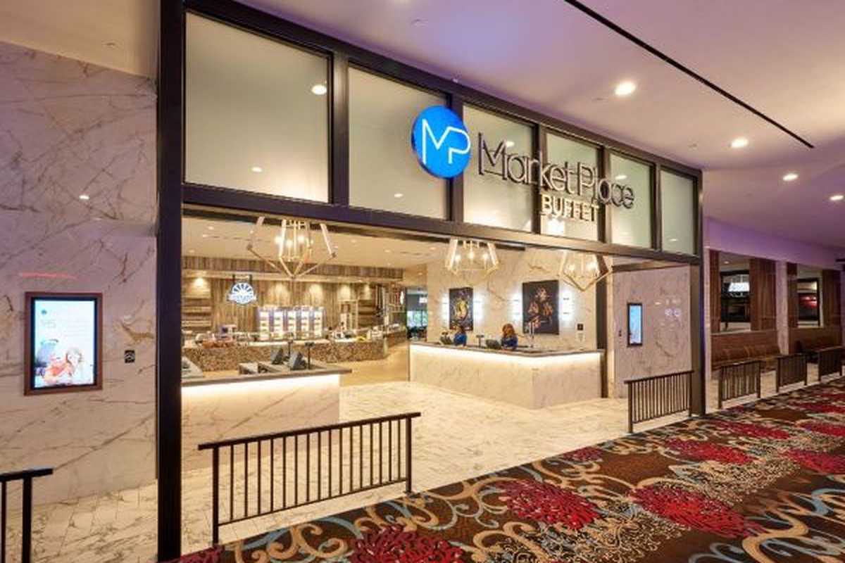 The entrance to Market Place Buffet