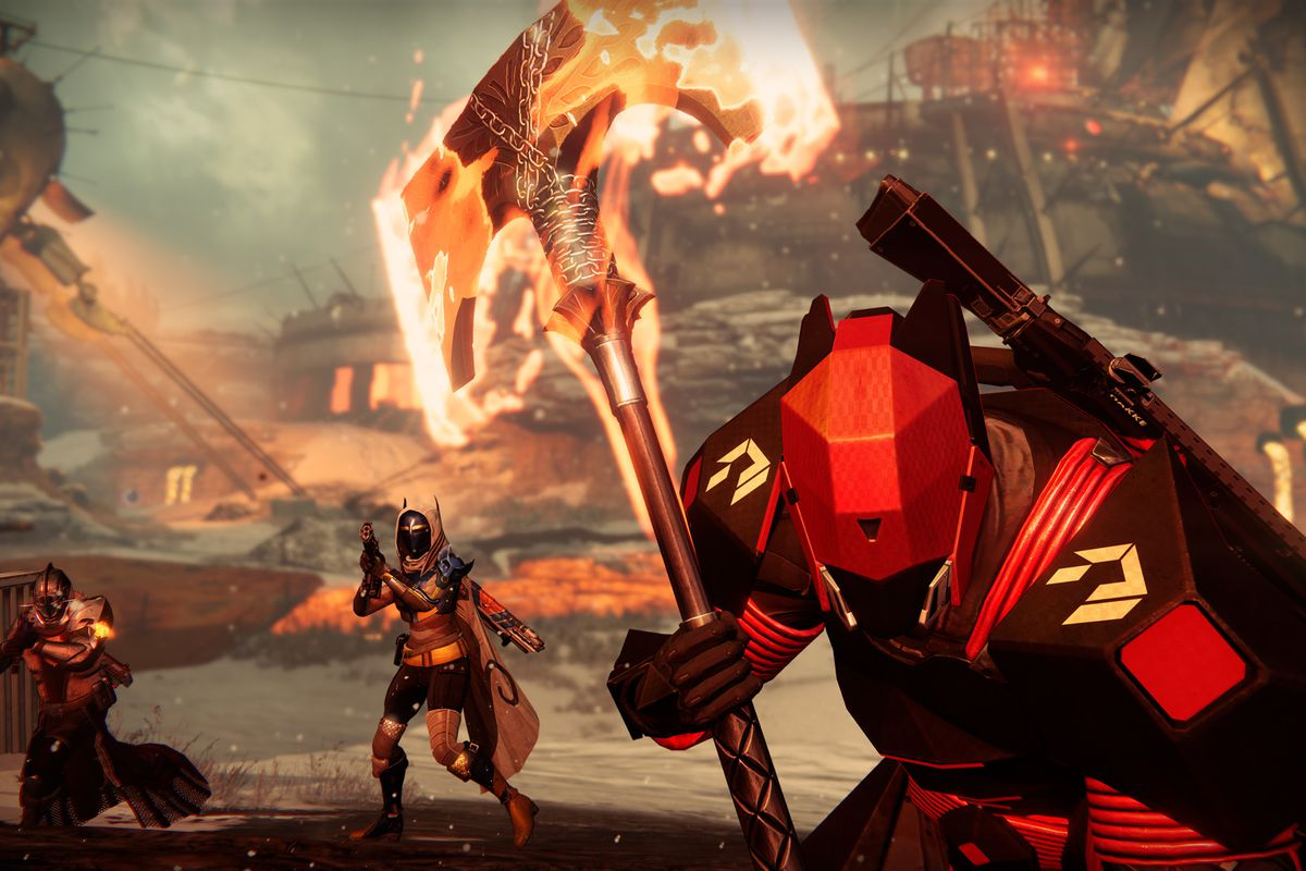 Destiny Guardian with flaming ax
