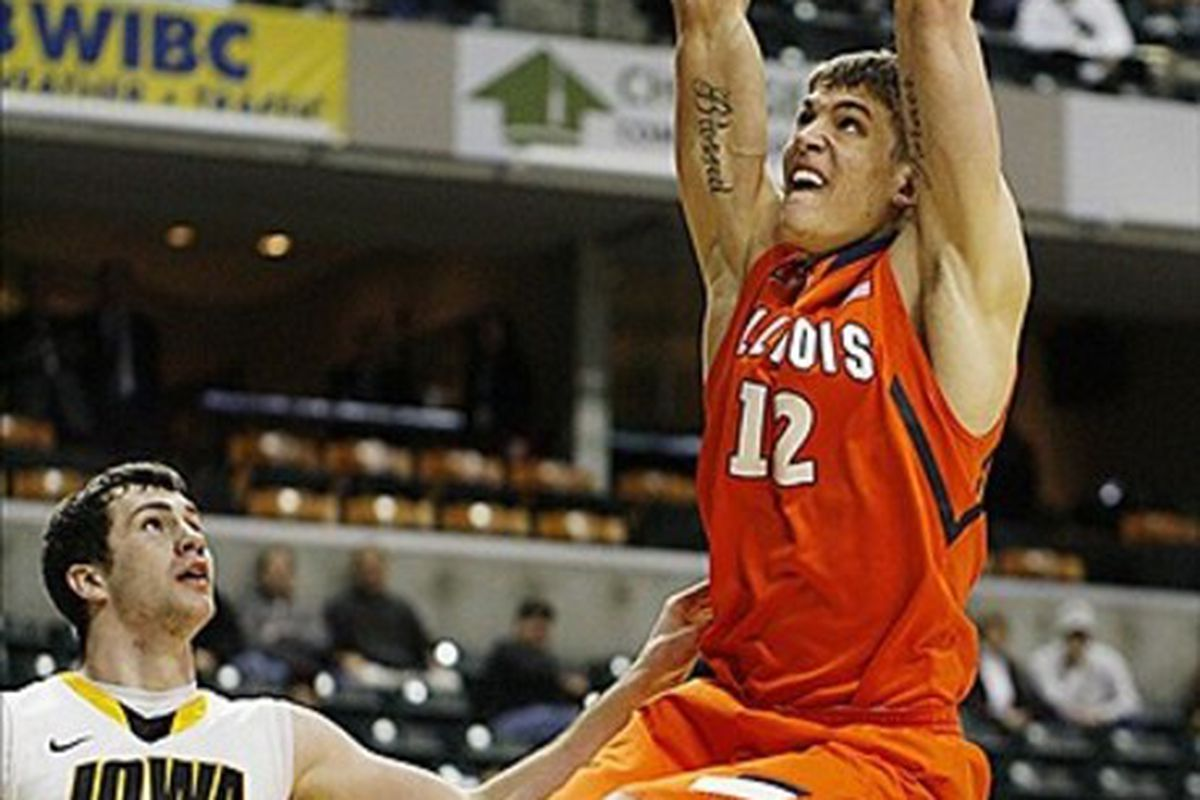 Meyers Leonard is a hot prospect after his showing at the 2012 NBA Draft Combine in Chicago.