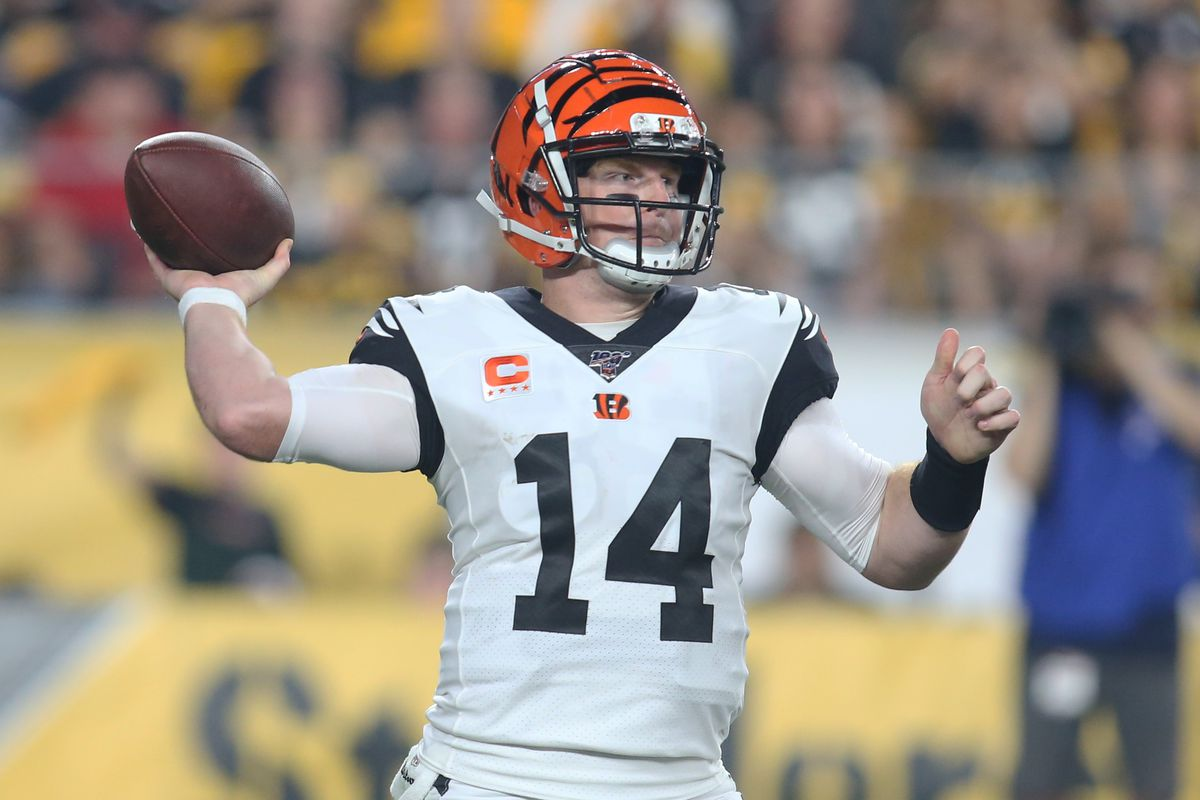 Cincinnati Bengals quarterback Andy Dalton (14) passes the ball against the Pittsburgh Steelers during the second quarter at Heinz Field.