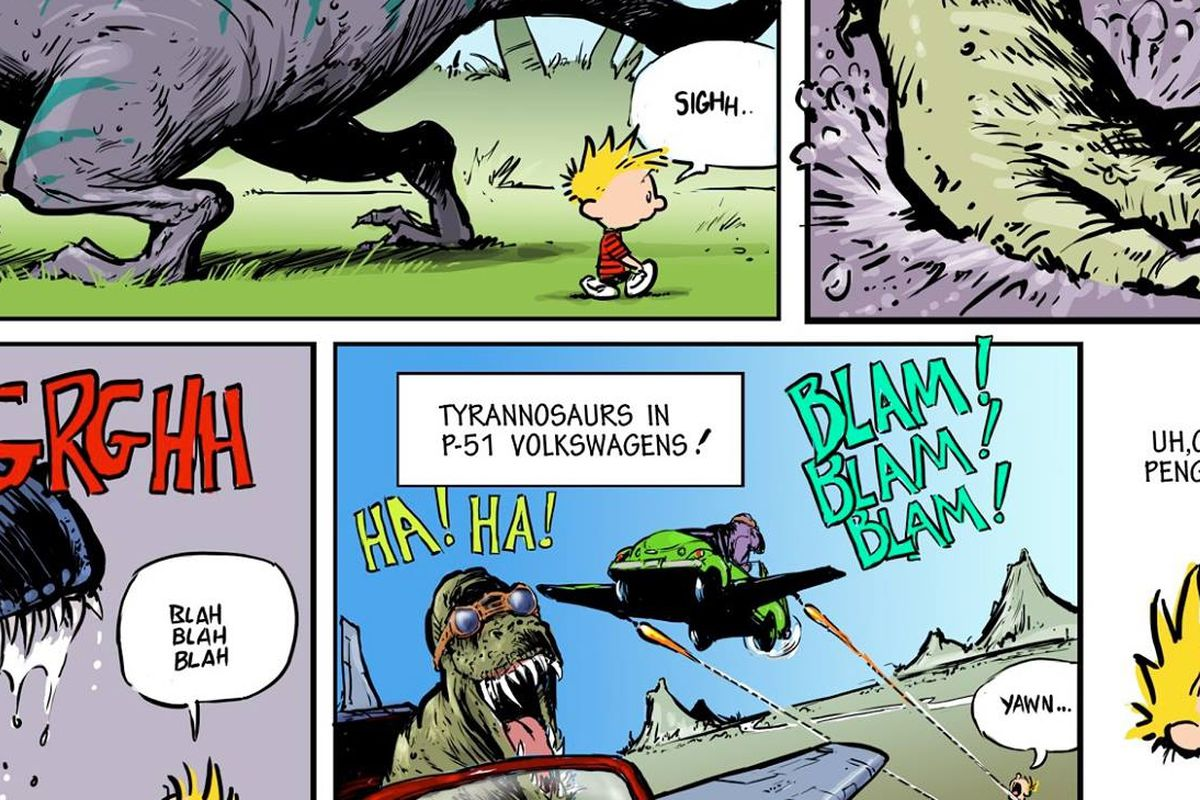 Calvin and Hobbes, and Bloom County, titans of newspaper comics ...