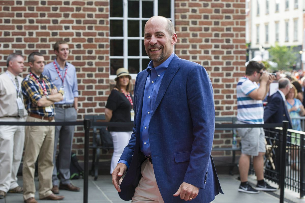 John Smoltz in Cooperstown before his Hall of Fame induction last summer