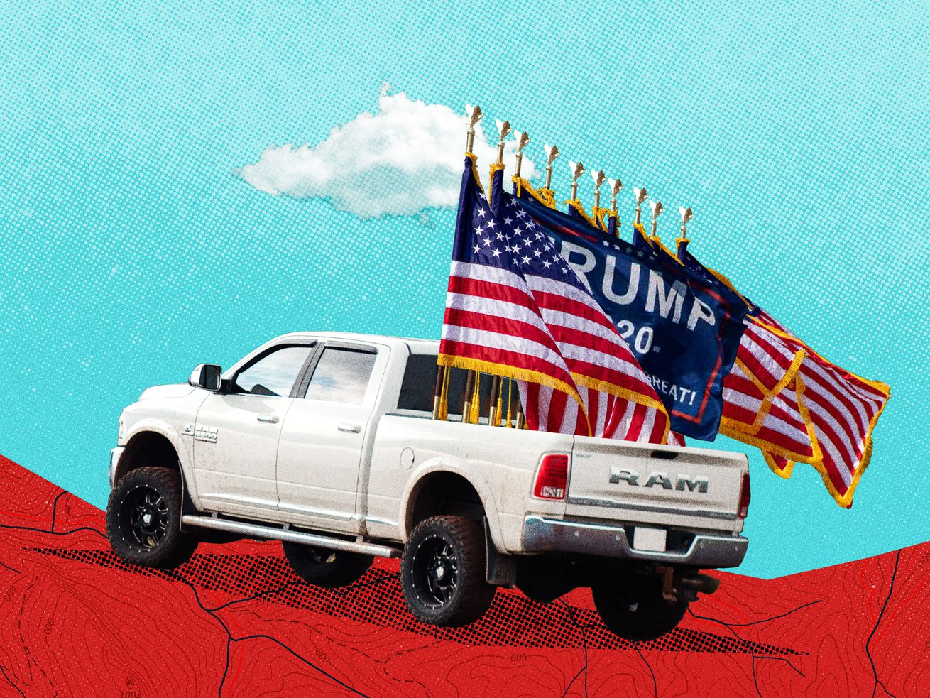 Big flags on big trucks: What these displays say about the upcoming election