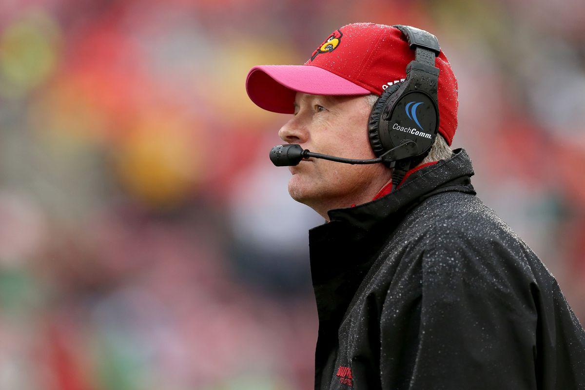 Louisville football coach Bobby Petrino talks about having a courageous gay son.