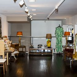 The vintage pop-up upstairs