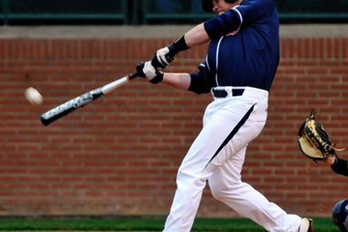 Patrick Savage was one of seven Tiger batters to drive in runs in Auburn's 12-5 victory over Arkansas. Savage hit two home runs in the week end series. (<em>photo, Todd Van Ernst</em>)