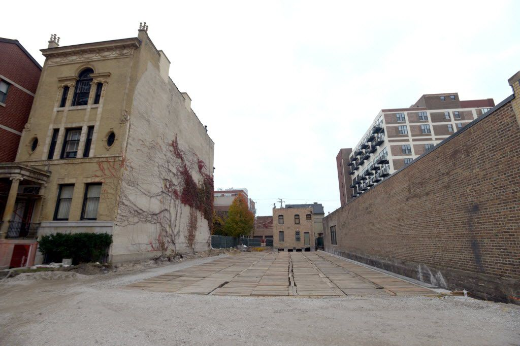 The Rees House was moved to this vacant lot on South Prairie Avenue. | Sun-Times file photo